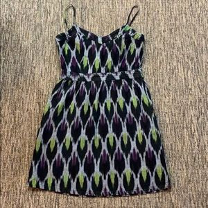 Multi-color dress with pockets